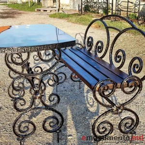 Masa si scaun din metal